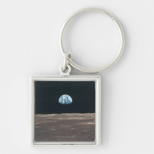 Earth Seen from the Moon Keychain