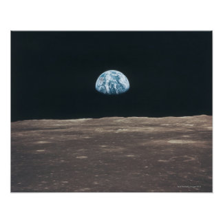 Earth Seen from the Moon Poster