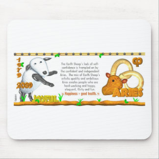 Earth Sheep zodiac born in Aries 1979 Mouse Pad