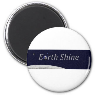 Earth Shine 2 Inch Round Magnet