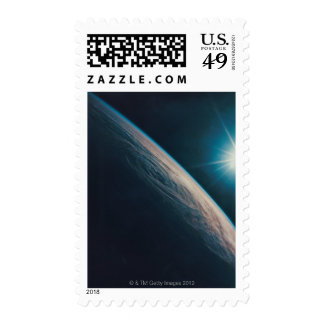 Earth Showing a Tropical Storm Postage
