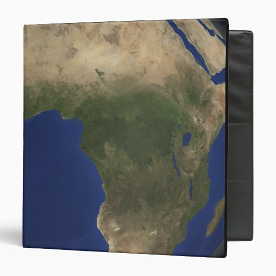 Earth showing landcover over Africa 3 Ring Binder