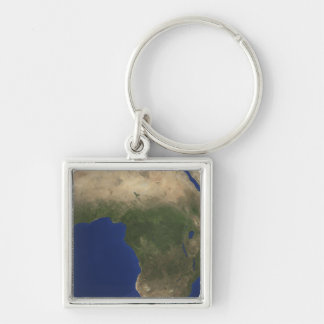 Earth showing landcover over Africa Keychain