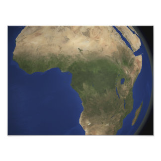 Earth showing landcover over Africa Photo Print