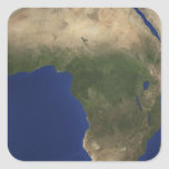 Earth showing landcover over Africa Square Stickers