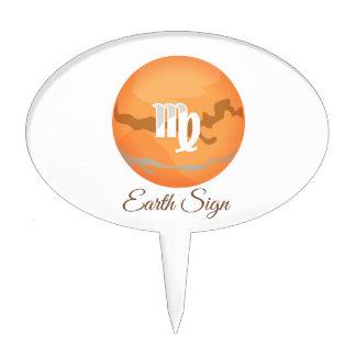 Earth sign cake topper