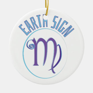 Earth Sign Ceramic Ornament