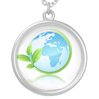 Earth Silver Plated Necklace