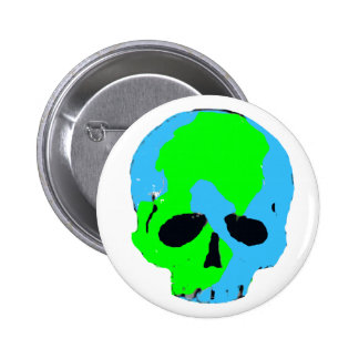 Earth Skull Button