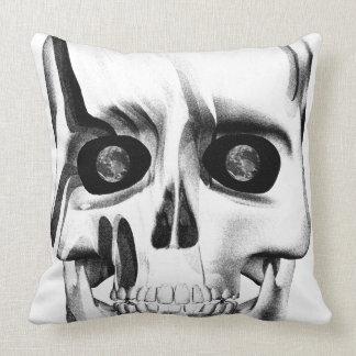 Earth Skull Throw Pillow