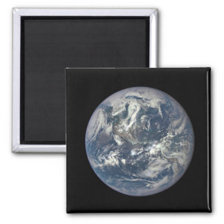 Earth, Space, America 2 Inch Square Magnet