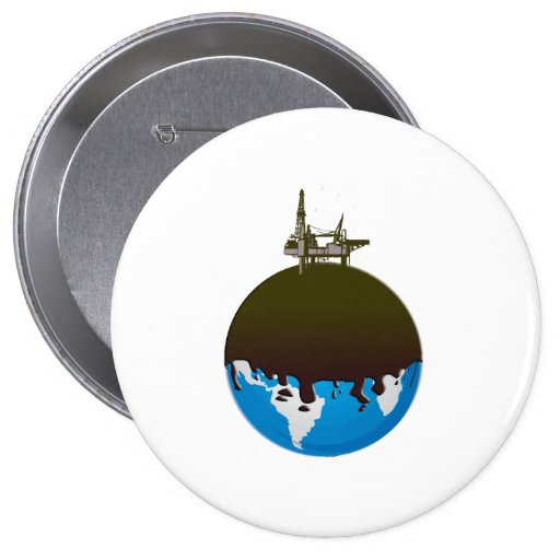 Earth Spill 4 Inch Round Button