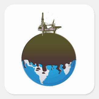 Earth Spill Square Sticker
