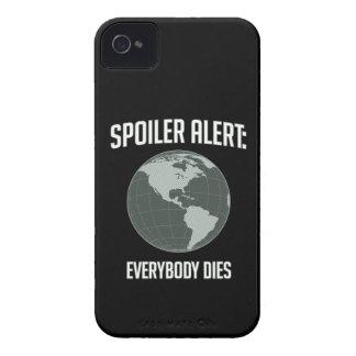 Earth Spoiler Alert: Everybody Dies Case-Mate iPhone 4 Cases