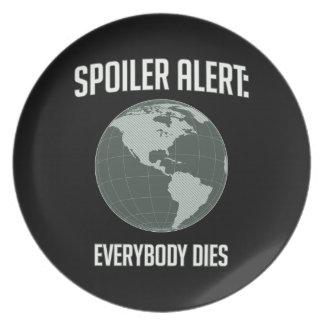 Earth Spoiler Alert: Everybody Dies Party Plates