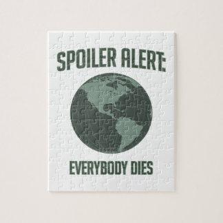 Earth Spoiler Alert: Everybody Dies Jigsaw Puzzle