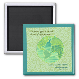 Earth Spring Scripture Magnet