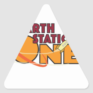 Earth Station One 2015 Logo Triangle Sticker