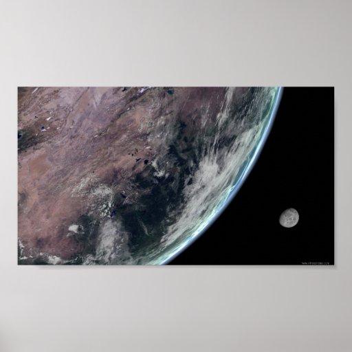 Earth-storms-and-moon1148 astronomía, azul, nubes, impresiones