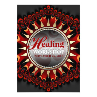 Earth Sun  New Age Healing Workshop Invitations