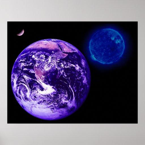 Earth, Sun, Venus Poster