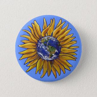Earth Sunflower Button