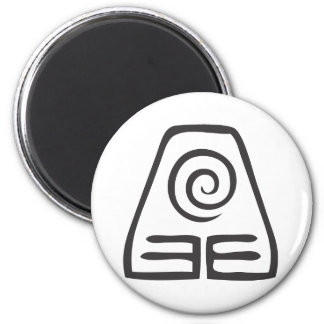Earth Symbol 2 Inch Round Magnet