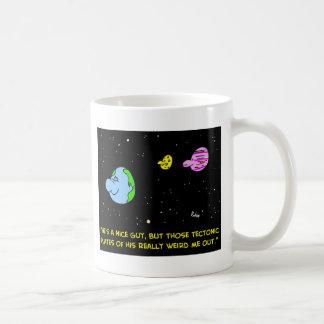 EARTH TECTONIC PLATES WEIRD ME OUT COFFEE MUG