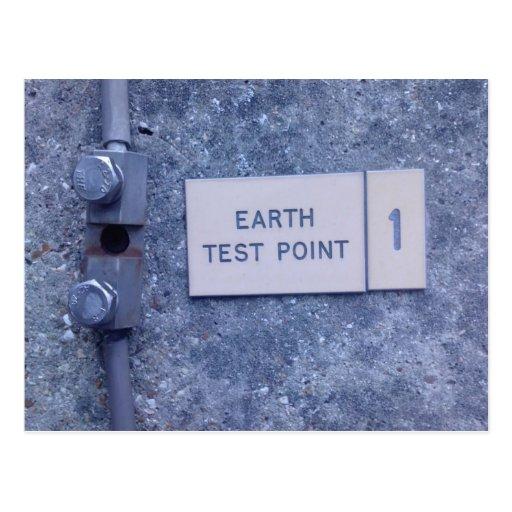 Earth Test Point 1 Postcard