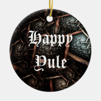 EARTH TEXTURE Custom Dated Holiday Ornament