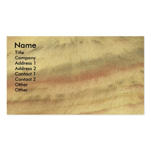 Earth Textures Business Card