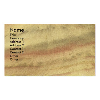 Earth Textures Landscape Photo Business Card
