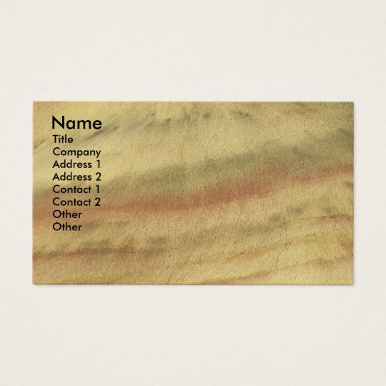 Earth Textures Photo Business Card