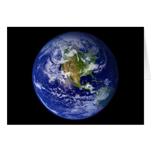 Earth The Beautiful Blue Marble Greeting Cards