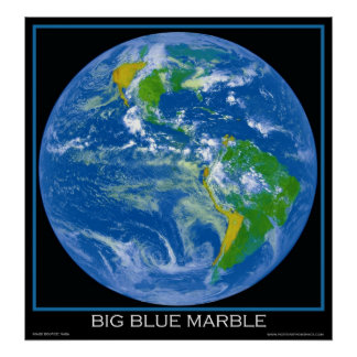 Earth - The Big Blue Marble - Posters From Space