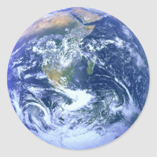 Earth - The Blue Marble Classic Round Sticker