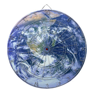 Earth - The Blue Marble Dart Board