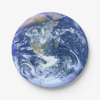 Earth: The Blue Marble Paper Plate
