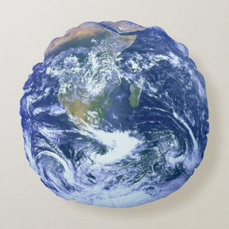 Earth - The Blue Marble Round Pillow