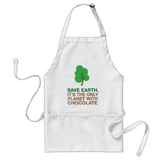 Earth, The Only Planet With Chocolate Adult Apron