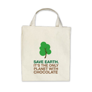 Earth The Only Planet With Chocolate Canvas Bag