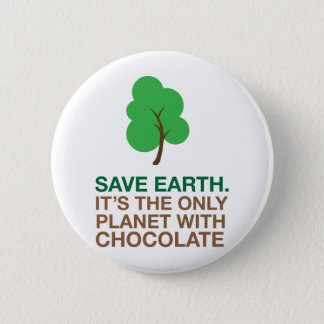 Earth, The Only Planet With Chocolate Button