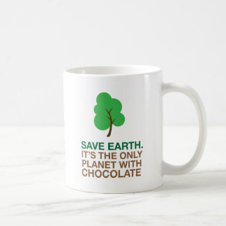 Earth, The Only Planet With Chocolate Classic White Coffee Mug