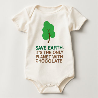 Earth, The Only Planet With Chocolate Baby Bodysuits