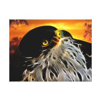 Earth to sky eagle canvas print