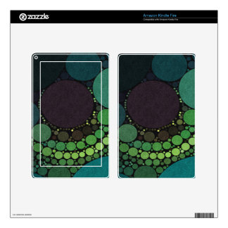 Earth Tone Abstract Dots Decal For Kindle Fire