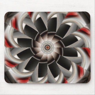 Earth Tone Abstract of Symmetry Mouse Pad