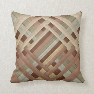 Earth Tone Abstract Weave Designer Style Throw Pillow