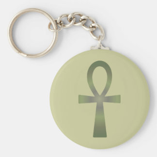 Earth Tone Ankh Key Chain