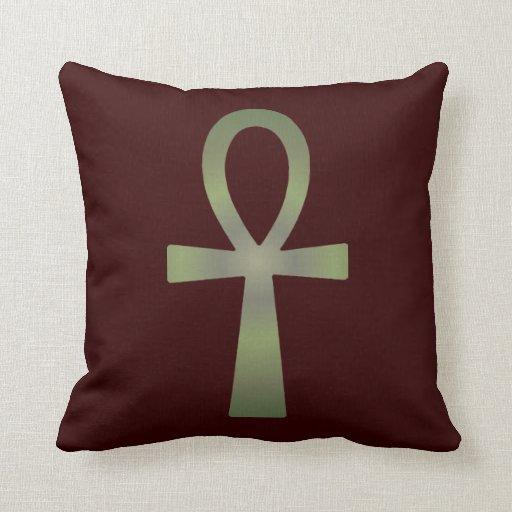 Earth Tone Ankh Pillows